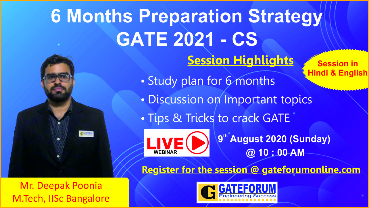 6 months preparation strategy session